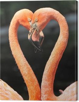 Quadro em Tela Flamingos