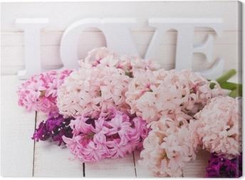 Quadro em Tela Flores frescas e amor da palavra