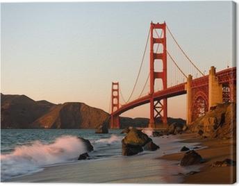 Quadro em Tela Golden Gate Bridge in San Francisco at sunset