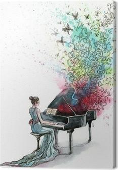 Quadro em Tela grand piano music (series C)