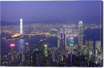 Quadro em Tela Hong Kong at night