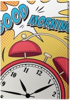 Quadro em Tela Ilustração cómica com despertador no estilo do pop art