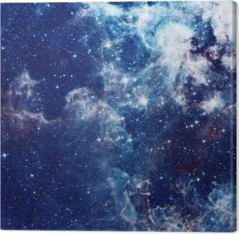 Quadro em Tela Ilustração Galaxy, fundo do espaço com estrelas, nebulosa, cosmos nuvens