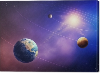 Quadro em Tela Inner solar system planets