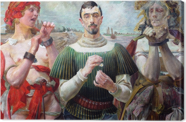 Quadro em Tela Jacek Malczewski - Den polske Hamlet - Reproductions