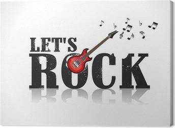 Quadro em tela lets rock background with guitar u2022 pixers® vivemos