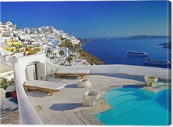 Quadro em Tela luxury vacation - Santorini
