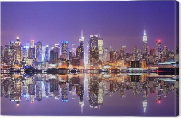 Quadro em Tela Manhattan Skyline with Reflections -