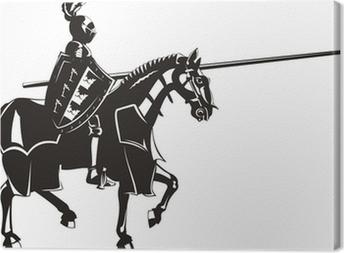 Quadro em Tela medieval knight