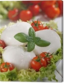 Quadro em Tela mozzarella di bufala italiana con pomodorini di pachino