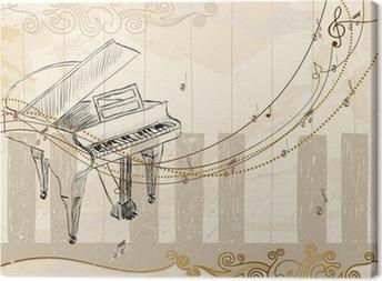 Quadro em Tela Musical background