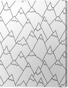 8dd73b21c Quadro em Tela Natureza Padrão em preto e branco. Textura repetitiva com a  mão tirada