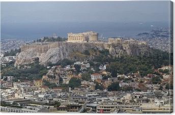 Quadro em Tela north view of Parthenon Acropolis Athens Greece