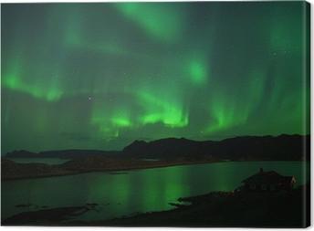 Quadro em Tela Northern lights over Northcape. October 08, 2013