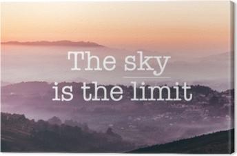Quadro em Tela O céu é o limite, o fundo das montanhas de nevoeiro