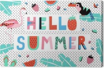 Quadro em Tela Olá Poster Verão