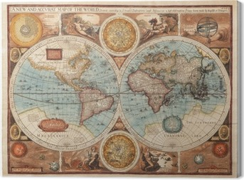 Quadro em Tela Old map (1626)