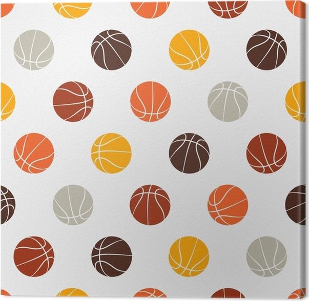 78ce01789c Quadro em Tela Padrão sem costura - basquete • Pixers® - Vivemos ...