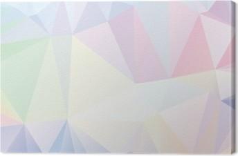 Quadro em Tela Pastel Polygon Geometric