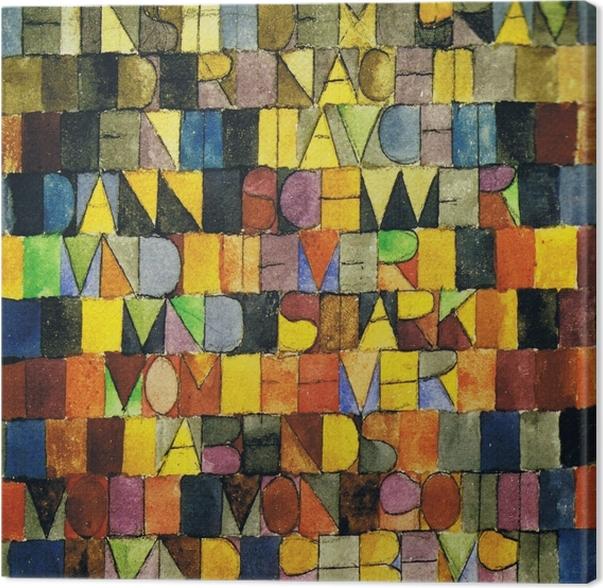 Quadro em Tela Paul Klee - Uma vez que surgiu a partir da cinza da Noite - Reproduções
