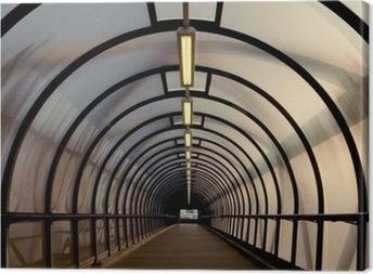 Quadro em Tela perspex tunnel walkway