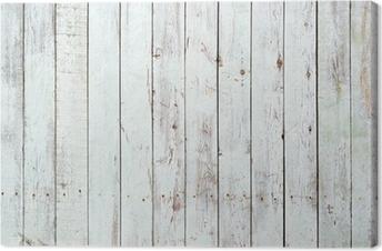 Quadros em tela premium Black and white background of wooden plank