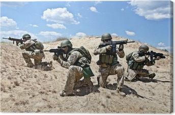 Quadros em tela premium military operation