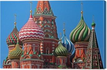 Quadros em tela premium Moscow Saint Basil Cathedral cupola