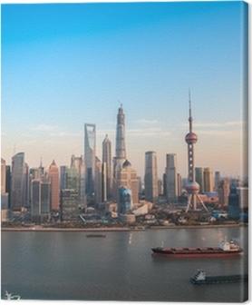 Quadros em tela premium shanghai lujiazui panoramic view