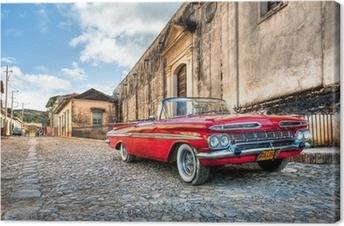 Quadro em Tela Red Chevrolet
