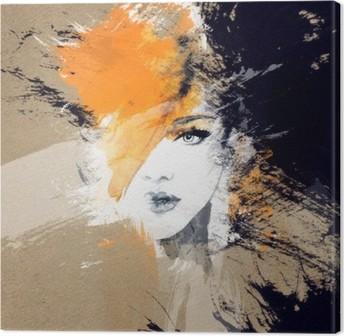 Quadros em tela pixers vivemos para mudar quadro em tela retrato da mulher aquarela abstrata fundo moda fandeluxe Images