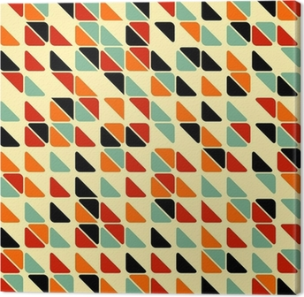 Quadro em Tela Retro abstract seamless pattern with triangles