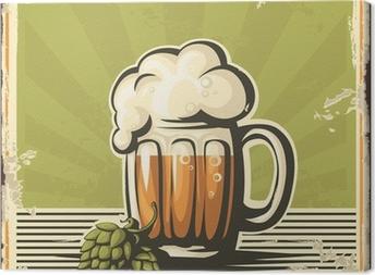 Quadro em Tela Retro beer poster.