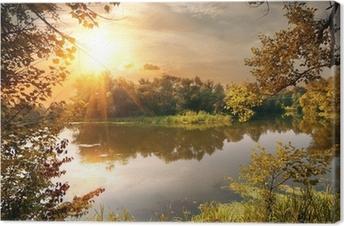 Quadro em Tela River in october