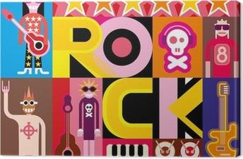 Quadro em Tela Rock and Roll