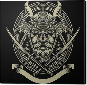 Quadro em Tela Samurai Warrior With Katana Sword