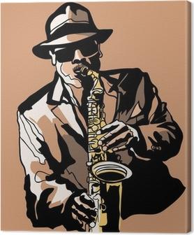 Quadro em Tela Saxophone player