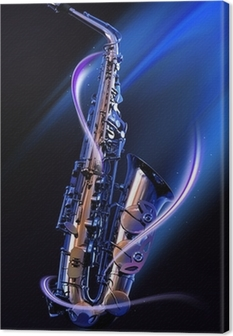 Quadro em Tela saxophone
