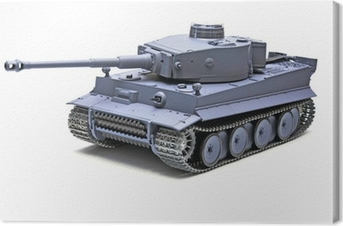 "Quadro em Tela Scale model German tank ""TIGER"""