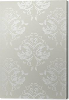 Quadro em Tela seamless wallpaper.damask pattern.floral background