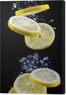 Quadro em Tela slice of lemon in the water