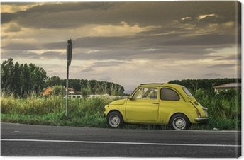 Quadro Em Tela Fiat 500 Pixers Vivemos Para Mudar