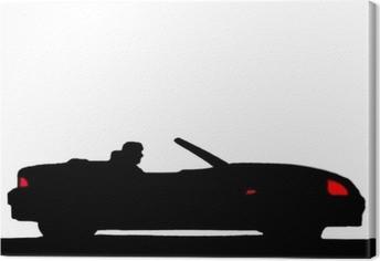 Quadro em Tela Sport car silhouette