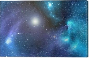 Quadro em Tela starry background of deep outer space