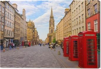 Quadro em Tela street view of Edinburgh, Scotland, UK