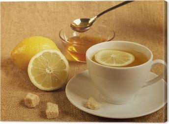 Quadro em Tela tea with lemon and honey