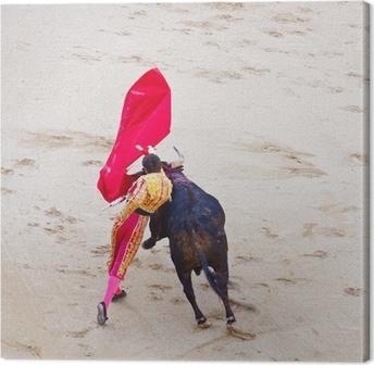 Quadro em Tela Traditional corrida - bullfighting in spain