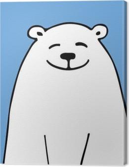 Quadro em Tela Urso branco, esboço para seu projeto