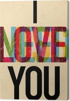 Quadro em Tela Valentine's Day type text calligraphic
