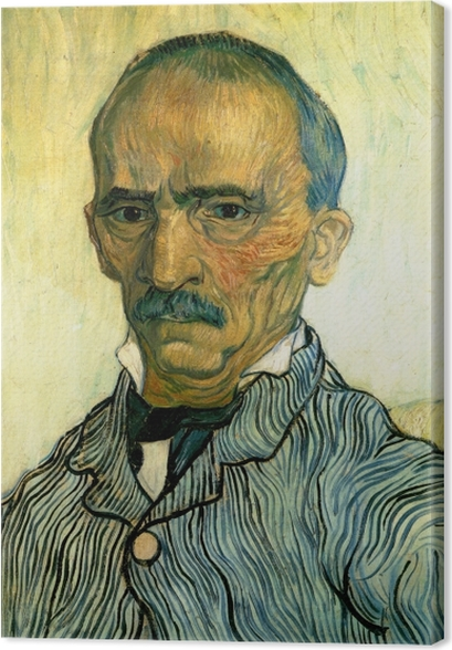 Quadro em Tela Vincent van Gogh - Retrato do inspetor do hospital Paul - Reproductions